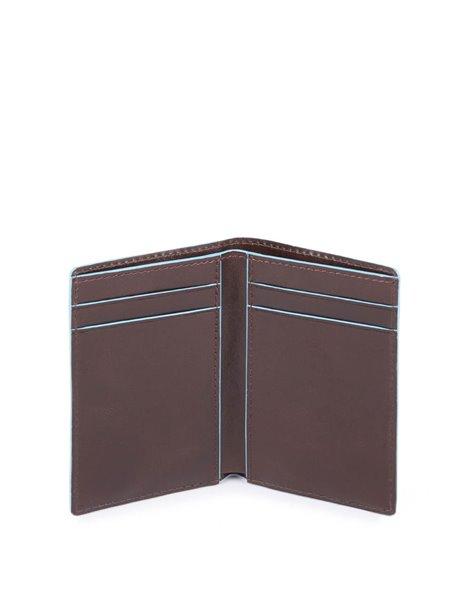 Piquadro PP4769B2R Porta carte di credito in pelle Marrone