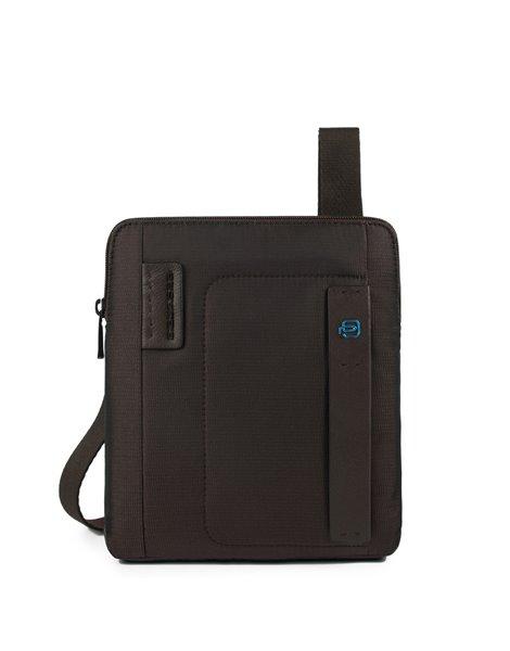 Piquadro CA1358P16 Borsello organizzato con scomparto porta iPad®Air Testa di moro