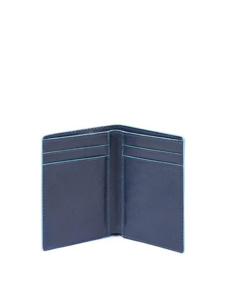 Piquadro PP4769B2R Porta carte di credito in pelle Blu