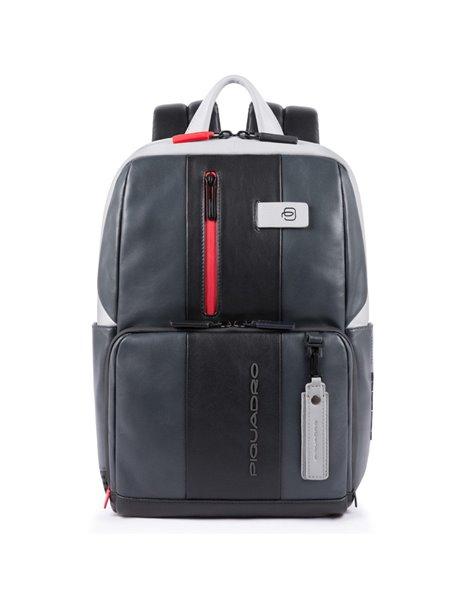"""Piquadro Zainetto porta PC e porta iPad®10,5""""/iPad 9,7"""" in pelle Grigio"""