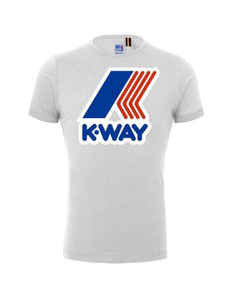 K-WAY T-SHIRT BIANCA PETE MACRO LOGO K009FF0