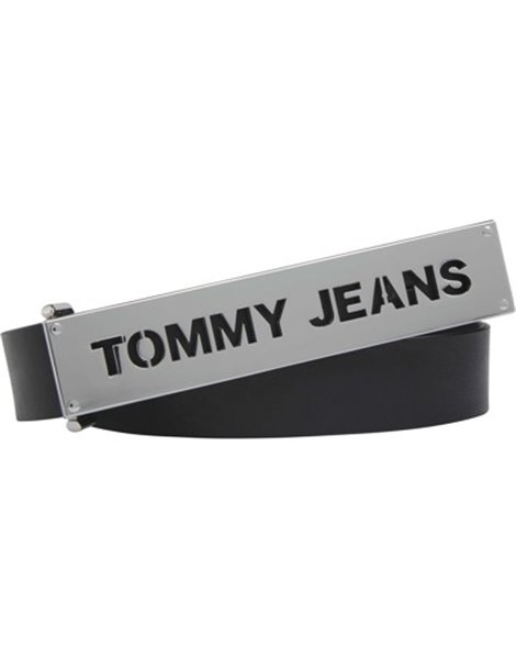 TOMMY JEANS AW0AW08066 CINTURA DONNA PELLE NERO