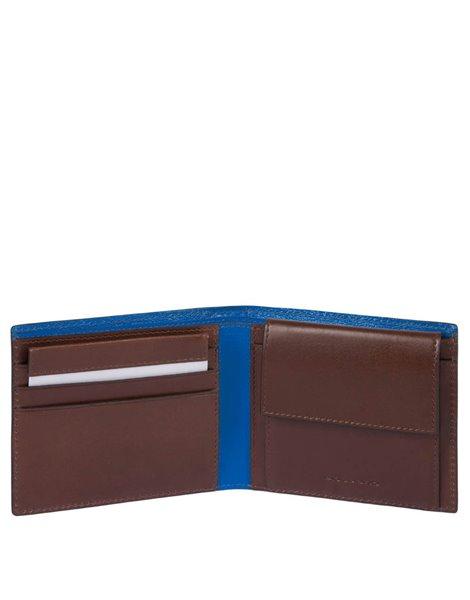 Piquadro PU4188BOLD Portafoglio marrone con portamonete