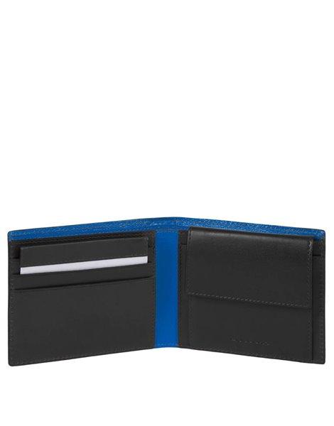 Piquadro PU4188BOLD Portafoglio nero con portamonete