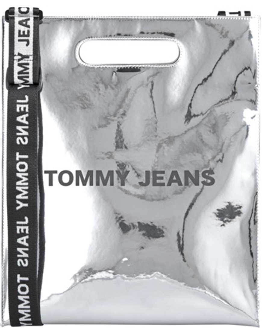 TOMMY JEANS AW0AW07804 BORSA TOTE SILVER