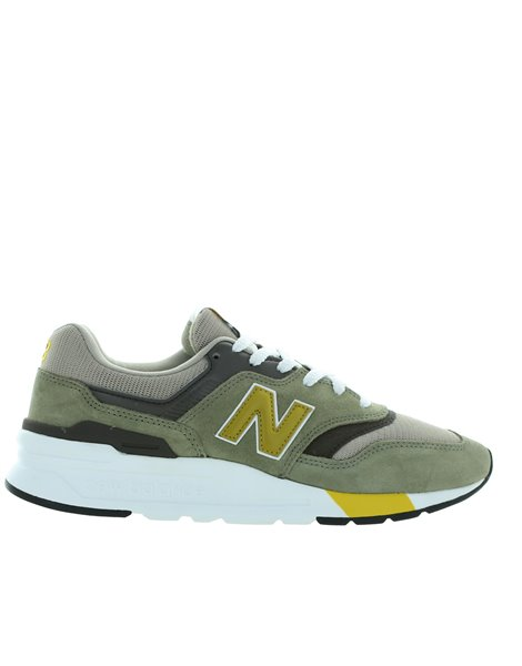 NEW BALANCE CM997HEZ GREEN GOLD SNEAKERS VERDE MILITARE