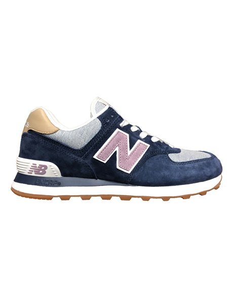 NEW BALANCE WL 574 NVC SNEAKERS BLU DONNA
