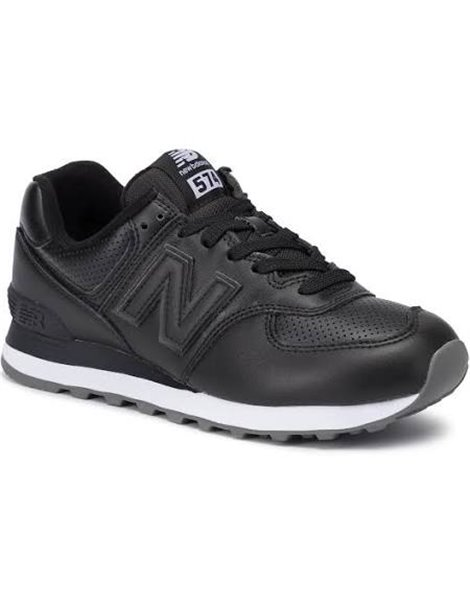 NEW BALANCE ML 574 SNR SNEAKERS NERE IN PELLE