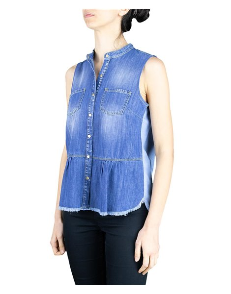 KAOS DENIM LP6NA017 TOP IN JEANS