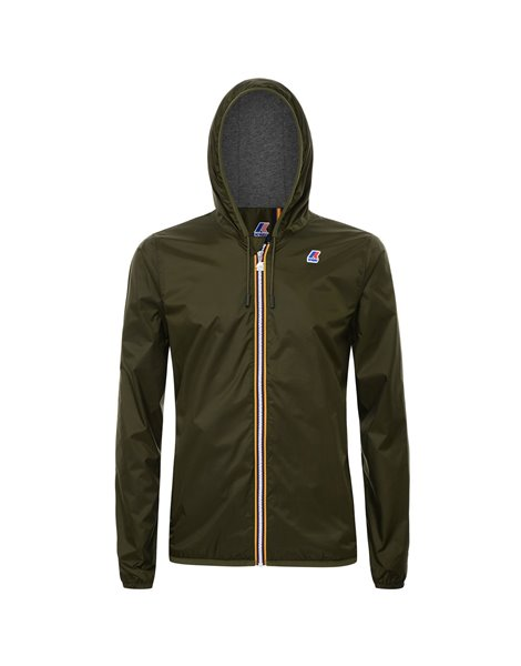 K-WAY JACQUES NYLON JERSEY GIACCA IMPERMEABILE UOMO VERDE