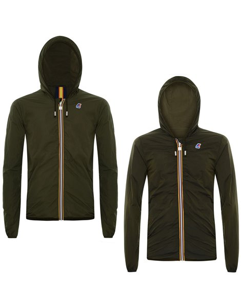 K-WAY JACQUES DYED GIACCA IMPERMEABILE UOMO VERDE MILITARE