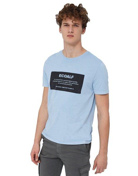 ECOALF NATAL LABEL T-SHIRT CELESTE