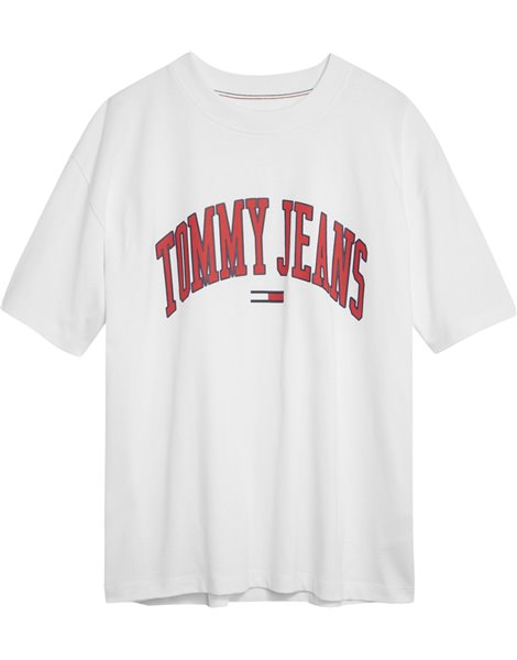 TOMMY JEANS T-Shirt Bianca in cotone con logo
