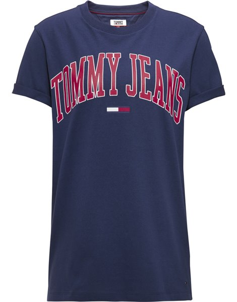 TOMMY JEANS T-Shirt Blu in cotone con logo