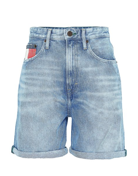 TOMMY JEANS DW08213 SHORTS MOM FIT AZZURRI