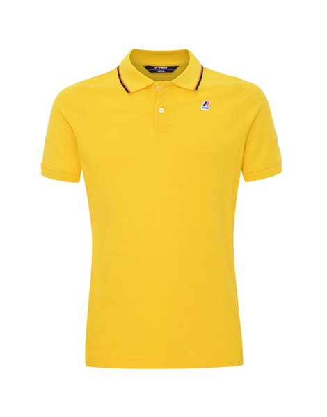 K-WAY JUDE STRIPES POLO MM UOMO GIALLO