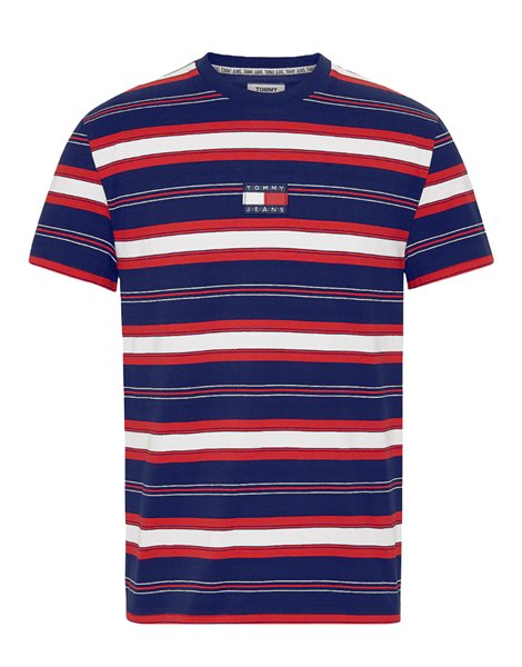 TOMMY JEANS 7836DM0 T-SHIRT UOMO RIGHE MULTICOLOR