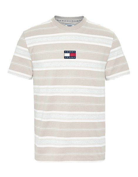 TOMMY JEANS 7836DM0 T-SHIRT UOMO RIGHE BEIGE