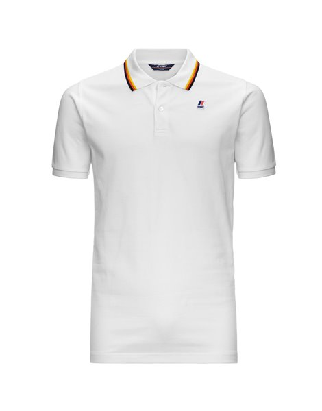 K-WAY JUDE STRIPES POLO MM UOMO BIANCO