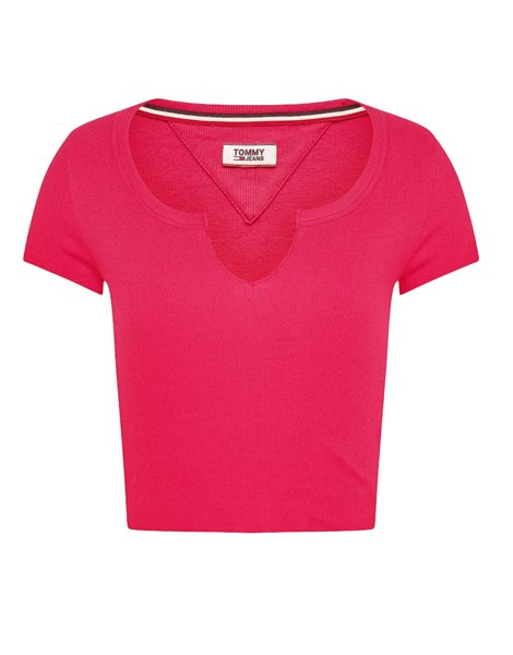 TOMMY JEANS 8008DW0 T-SHIRT CROP FUXIA