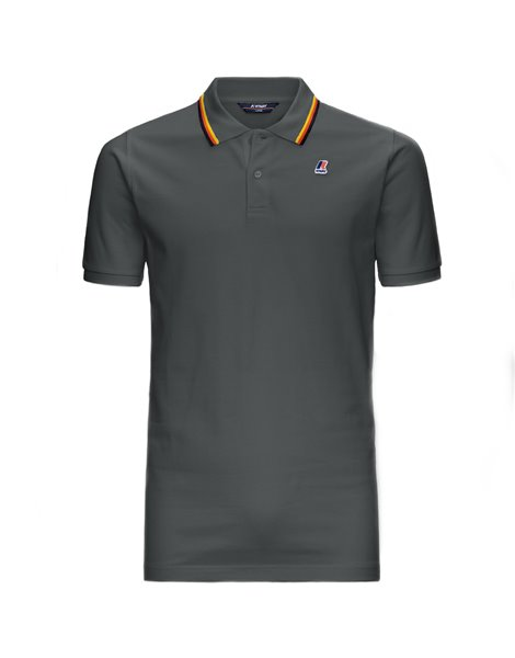 K-WAY JUDE STRIPES POLO MM UOMO GRIGIO SCURO