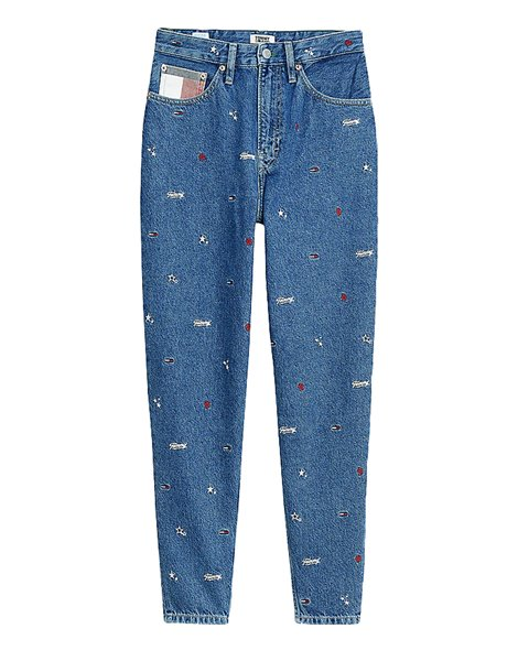 TOMMY JEANS 8643DW0 JEANS MOM FIT DONNA CON RICAMI