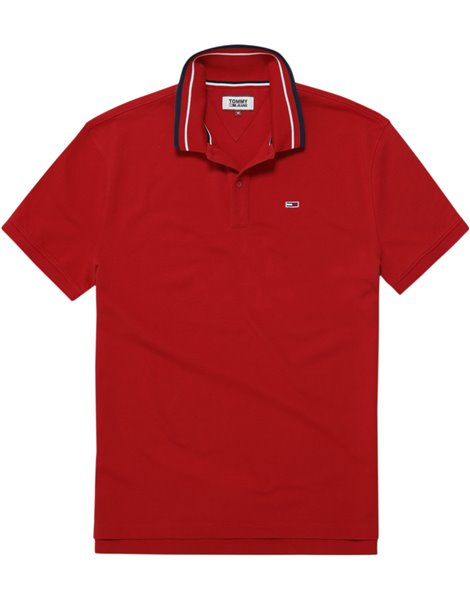 TOMMY JEANS 5509DMO POLO MM UOMO ROSSA