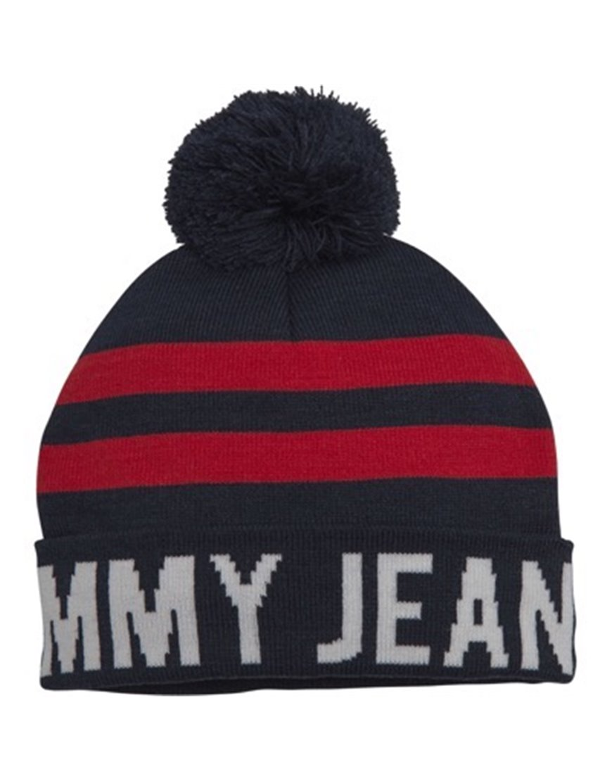 TOMMY JEANS 5413AM0 BERRETTO BLU A BANDE ROSSE