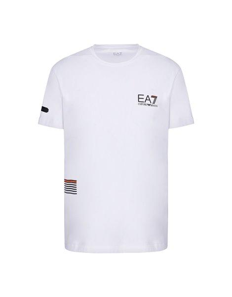 EA7 6HPT22PJ5LZ T-SHIRT UOMO BIANCA