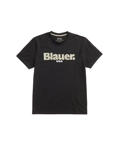 BLAUER BLUH02128 T-SHIRT UOMO NERA