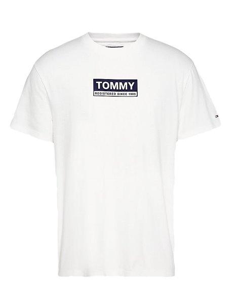 TOMMY JEANS 8364DM0 T-SHIRT UOMO BIANCA