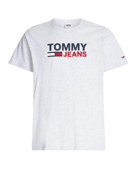 TOMMY JEANS 0214DM1 T-SHIRT LOGO OVERSIZE UOMO GRIGIO