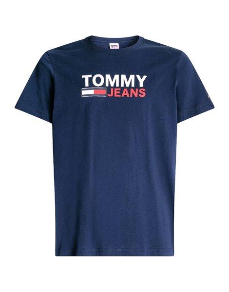 TOMMY JEANS 0214DM1 T-SHIRT LOGO OVERSIZE UOMO BLU