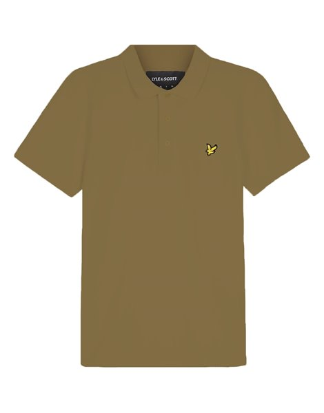 LYLE&SCOTT POLO MM STRETCH UOMO VERDE MILITARE