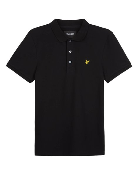 LYLE&SCOTT POLO MM STRETCH UOMO NERO