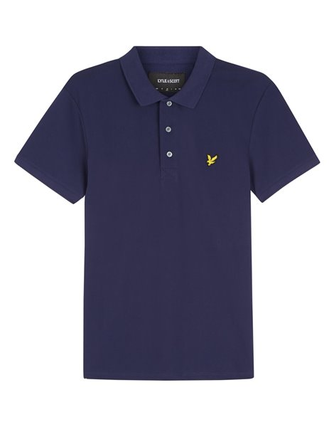 LYLE&SCOTT POLO MM STRETCH UOMO BLU