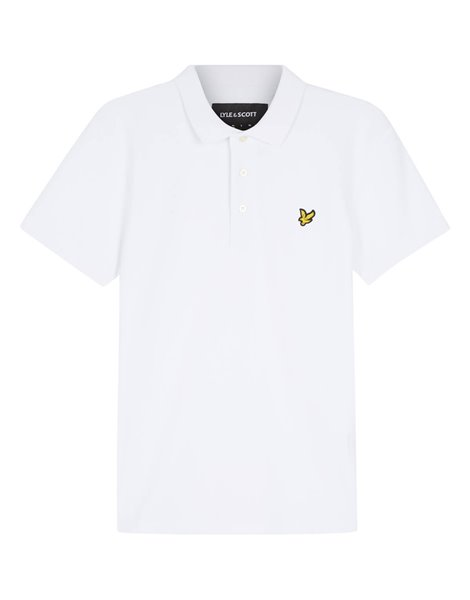 LYLE&SCOTT POLO MM STRETCH UOMO BIANCO